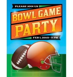 Football bowl game party flyer vector