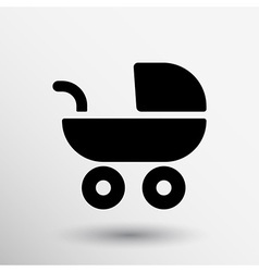Baby stroller icon maternity wheel born pram vector