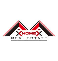 Real estate home card construction vector