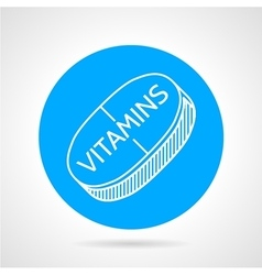 Vitamin supplements round icon vector