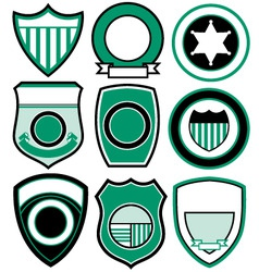 Simple patch badge vector
