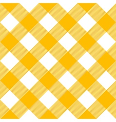 Tablecloth pattern yellow vector