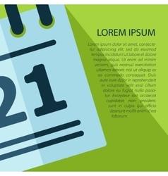 Calendar icon with text eps10 vector