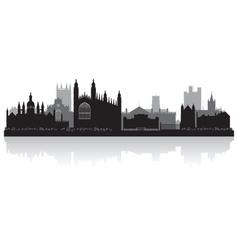 Cambridge city skyline silhouette vector