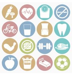 White icons health vector