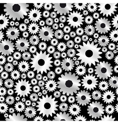 Background with gears pattern vector
