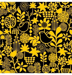 Seamless pattern with sweet birds vector