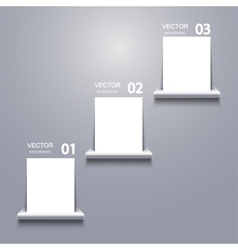 White blank on shelf infographic vector