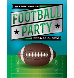 American football party flyer vector