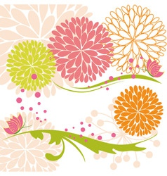 Abstract springtime colorful flower and butterfly vector