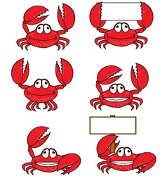 Crab cartoon vector