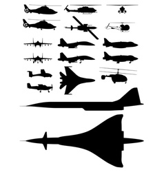 Aircrafts vector