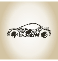 Car an animal vector