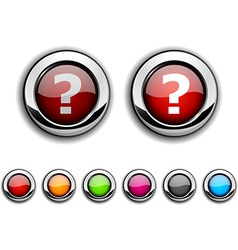 Question button vector