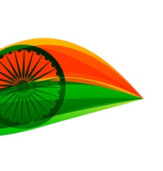 Indian flag made with tricolor in a leaf style vector