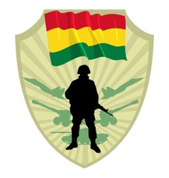 Army of bolivia vector