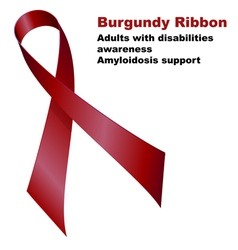 Burgundy ribbon vector