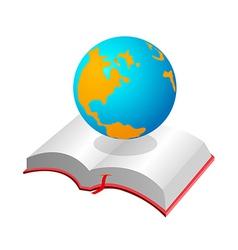 Icon book and globe vector