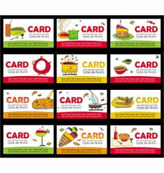 Food cards vector