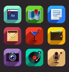 Flat app icons set 2 vector