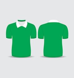 Green polo t shirt vector