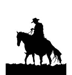 Cowboy silhouette vector