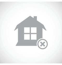 Abandoned house icon vector