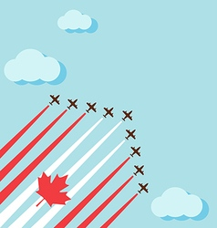 Air show on the sky for celebrate the national day vector