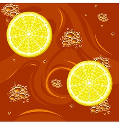 Tea with lemon vector