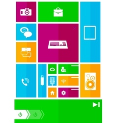 Square user interface vector