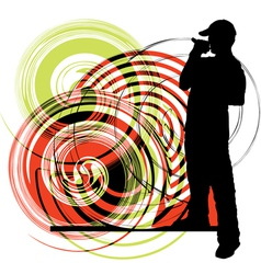 Artists of hip hop vector