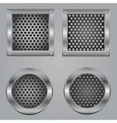 Metal squares vector