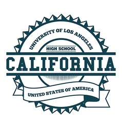 College california badge and label design element vector
