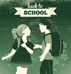 Vintage students background vector