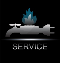 Symbol service for business vector