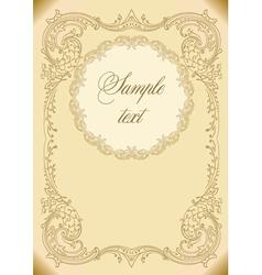 Vintage invitation card vector
