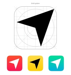 Direction arrow icon vector