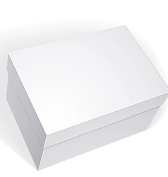Package white box design isolated on white vector
