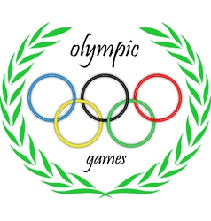 Olympic rings in a crown vector