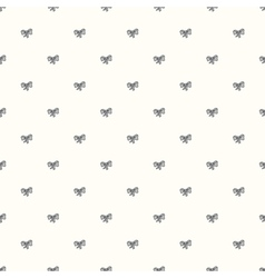 Seamless retro pattern with bow tie vector