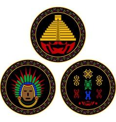 Mayan and aztec symbols vector