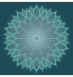 Mandala beautiful hand drawn flower vector