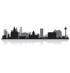 Liverpool city skyline silhouette vector
