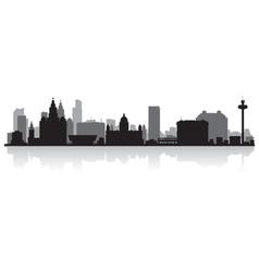 Liverpool city skyline silhouette vector