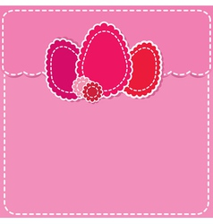 Post envelope with easter eggs vector