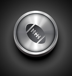 Sport metallic icon vector
