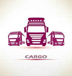 Truck outlined symbol vector