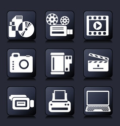 Set photo and video icons vector