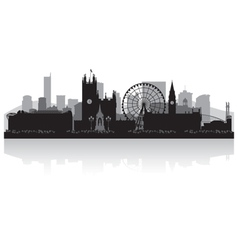 Manchester city skyline silhouette vector