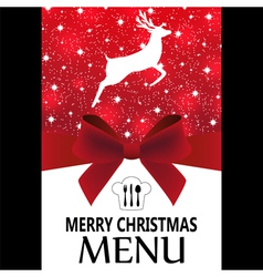 Special christmas menu vector